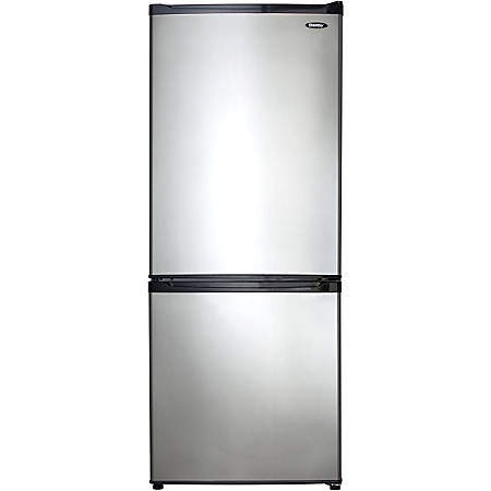 Danby Frost Free Refrigerator - 9.20 ft³ - No-frost - Reversible - 6.37 ft³ Net Refrigerator Capacity - 2.82 ft³ Net Freezer Capacity - 374 kWh per Year - Black, Stainless Steel - Smooth - LED Light