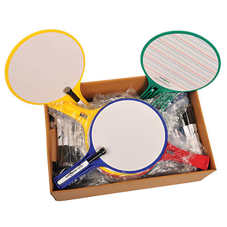 KleenSlate Round Dry Erase Whiteboards Set of 24