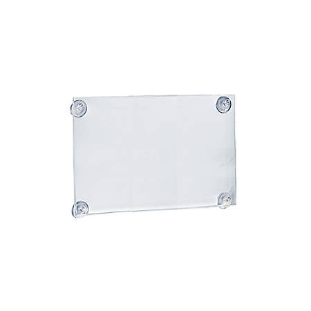 "Azar Displays Vertical/Horizontal Sign Frames With Suction Cups, 11"" x 14"", Clear, Pack Of 2"
