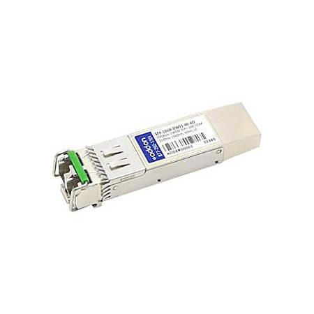 AddOn MSA and TAA Compliant 10GBase-DWDM 100GHz SFP+ Transceiver (SMF, 1536.61nm, 40km, LC, DOM)