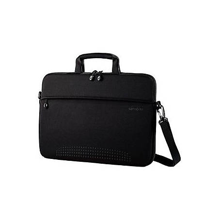 "Samsonite Aramon NXT 43327-1041 Carrying Case for 13"" Notebook - Black - Neoprene - Handle, Shoulder Strap - 9.3"" Height x 13.3"" Width x 1"" Depth"