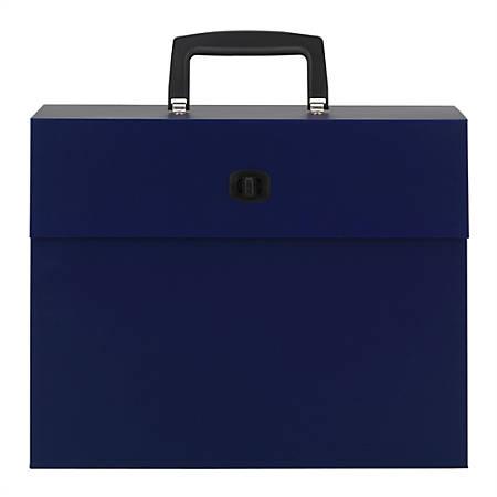 Office Depot® Letter Case File, 19 Pockets, Letter Paper Size, Blue