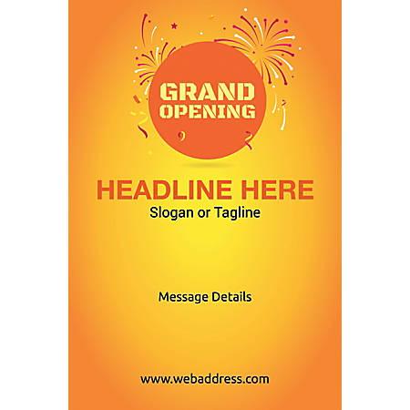 Custom Poster, Grand Opening, Vertical