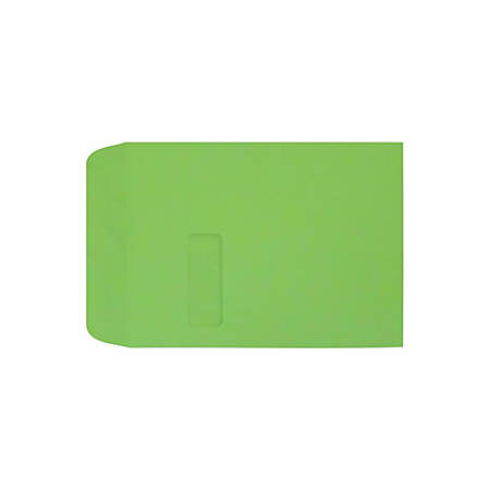 """LUX Open-End Window Envelopes With Peel & Press Closure, #9 1/2, 9"""" x 12"""", Limelight, Pack Of 500"""