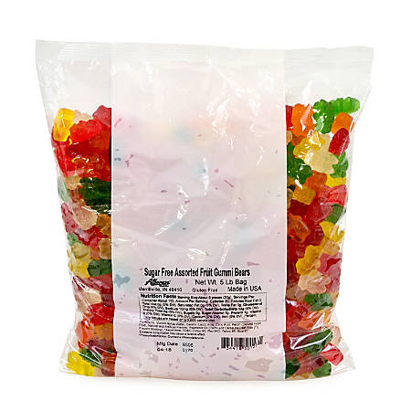 Albanese Confectionery Gummies, Sugar-Free Gummy Bears, 5-Lb Bag