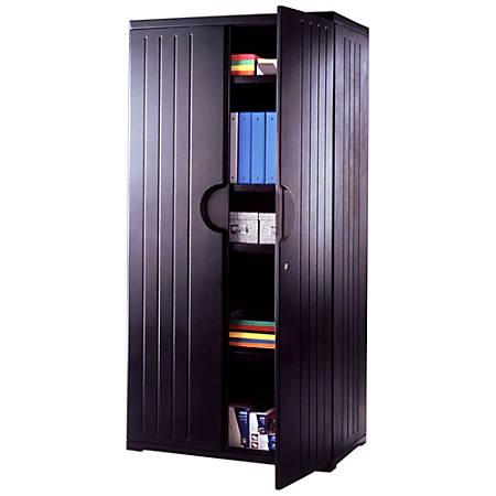 "Iceberg OfficeWorks™ Storage Cabinet, 72""H x 36""W, Black"