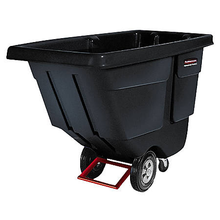 "Rubbermaid Commercial 850lb Capacity Utility Tilt Truck - 850 lb Capacity - 33.5"" Width x 72.2"" Depth x 43.8"" Height - Black"
