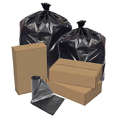 "Pitt Plastics Repro Liners, 43"" x 47"", Black, Case Of 100"