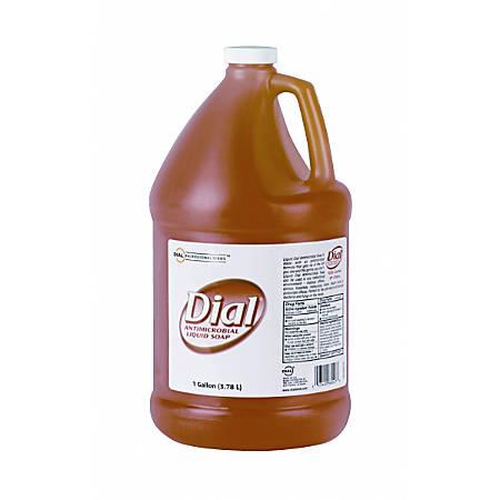 Dial Antibacterial Liquid Soap Refill, 1 Gallon, Original Gold, Pack Of 4