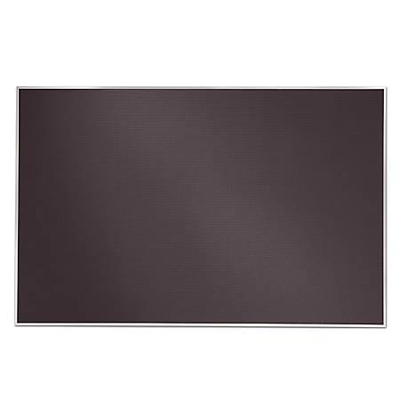 """Quartet® Matrix® Framed Bulletin Board, 48"""" x 31"""", Gray"""