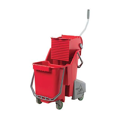 Unger 32 Qt Dual Compartment Mop Bucket - 31.7 quart - 40 ft x 31.7 ft x 40 ft - Red