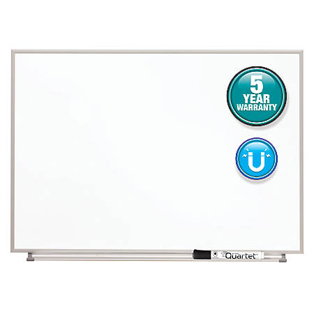 "Quartet® Matrix® Magnetic Marker Dry-Erase Board, 23"" x 16"", White/Silver"
