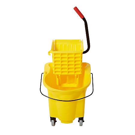 Rubbermaid® WaveBrake® Side Press Combo Bucket, 26 Quart, Yellow