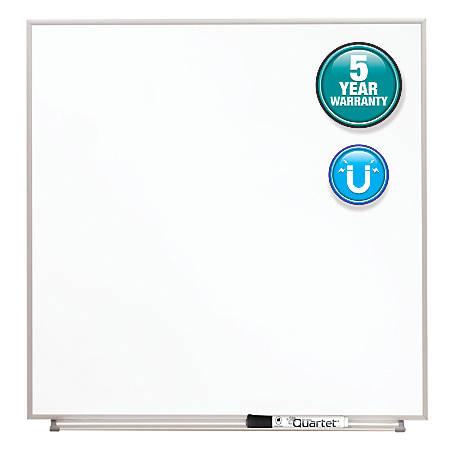 "Quartet® Matrix® Magnetic Marker Dry-Erase Board, 23"" x 23"", White/Silver"