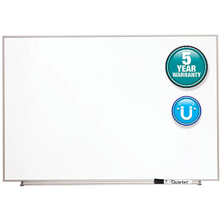 "Quartet® Matrix® Magnetic Marker Dry-Erase Board, 34"" x 23"", White/Silver"
