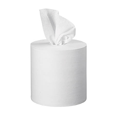 "Kleenex Premiere Center-Pull Towels - 1 Ply - 8"" x 15"" - 250 Sheets/Roll - 8.40"" Roll Diameter - White - For Hand - 1000 / Carton"