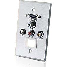 C2G AudioVideoKeystone Faceplate 1 gang HD