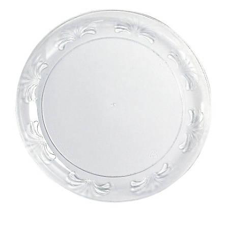 "Designerware WNA Comet 6"" Floral Rim Disposable Clear Plate - 6"" Diameter Plate - Polystyrene - Floral - Disposable - Clear - 180 Piece(s) / Carton"
