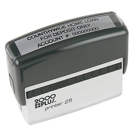 """2000 PLUS® Self-Inking Signature Stamp, P25, 9/16"""" x 2 7/8"""" Impression"""