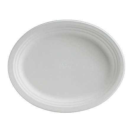 "Chinet® Classic Paper Dinnerware Oval Platters, 9 3/4"" x 12 1/2"", White, Carton Of 500 Platters"
