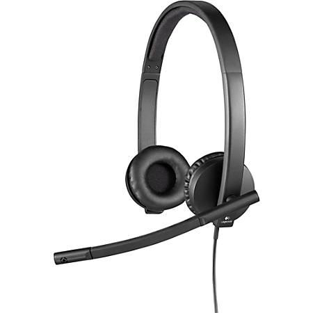 453cee6380d Logitech USB Headset Stereo H650e Stereo USB Wired 50 Hz 10 kHz Over ...