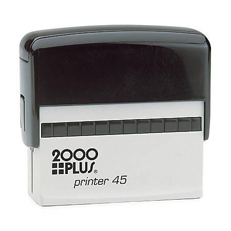 "Custom 2000 PLUS® P45 Self-Inking Stamp, 15/16"" x 3 3/16"" Impression"