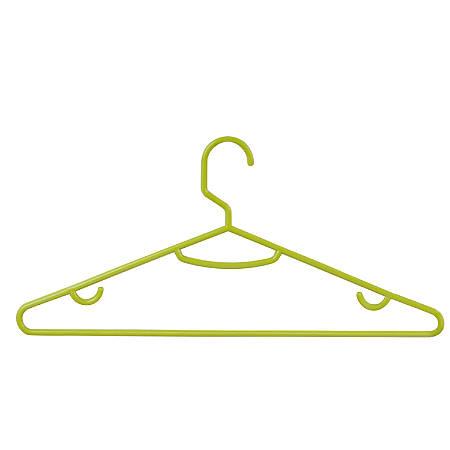 "Honey-Can-Do Plastic Tubular Hangers, 7 1/4""H x 3 3/4""W x 15 1/4""D, Green, Pack Of 60"