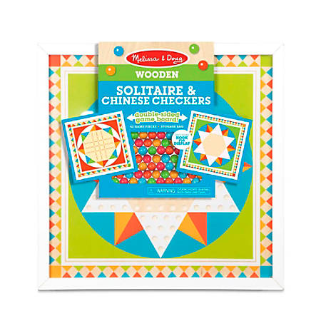 Melissa & Doug Pretend Play Educational Toys, Wooden Solitaire & Chinese Checkers
