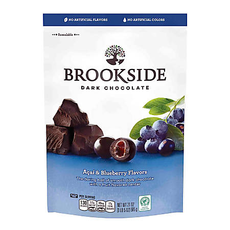 Brookside Chocolatier Pouch, 21 Oz, Dark Chocolate Acai Blueberry