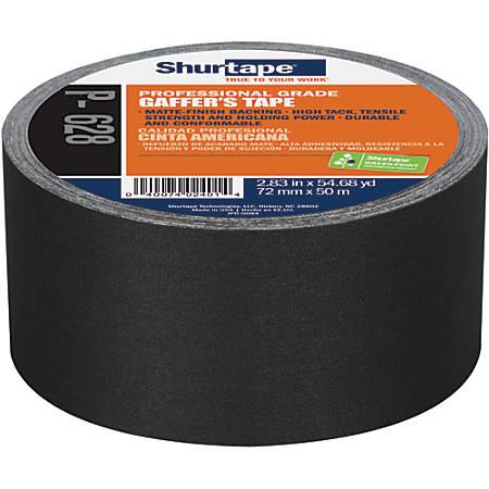 Shurtape PC628 Cloth Gaffers Tape, Black