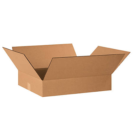 "Office Depot® Brand Corrugated Boxes, 4""H x 18""W x 22""D, Kraft, Pack Of 25"