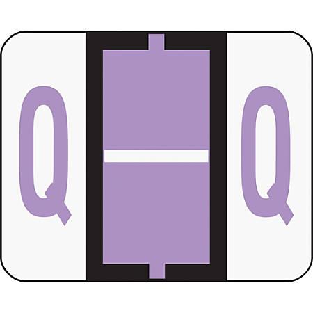 Smead® BCCR Bar-Style Permanent Alphabetical Labels, Q, Lavender, Roll Of 500
