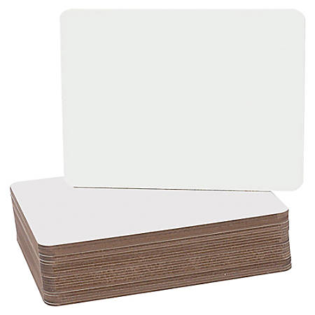 """Flipside Round Corners Dry Erase Lap Board - 9.5"""" (0.8 ft) Width x 12"""" (1 ft) Height - White Surface - Rectangle - 24 / Pack"""