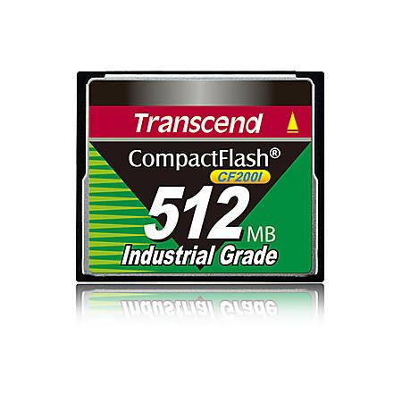 Transcend CF200I 512 MB CompactFlash - 200x Memory Speed