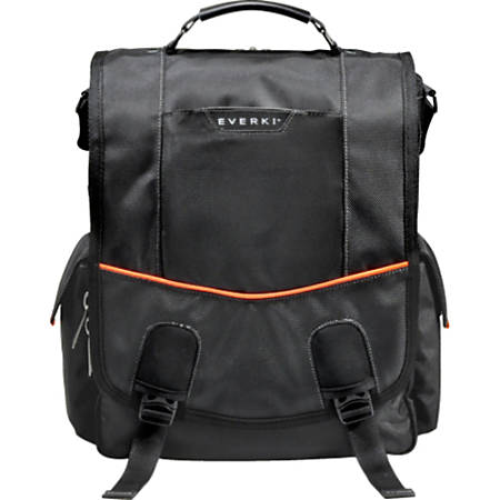 Everki Urbanite Vertical Messenger Bag For Laptops, Black