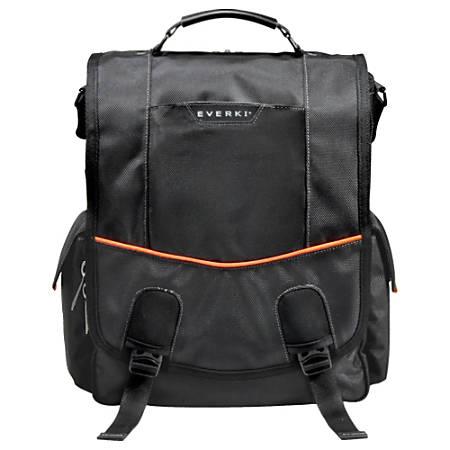 """Everki Urbanite Vertical Messenger Bag For 14.1"""" Laptops, Black"""