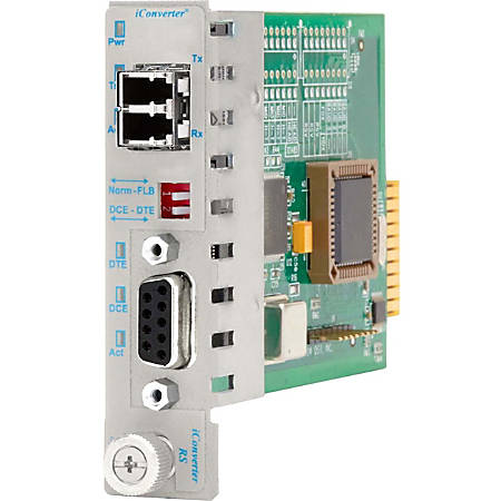 iConverter RS-232 Serial Fiber Media Converter DB-9 LC Single-Mode 30km Module - 1 x RS-232; 1 x LC Single-Mode; Internal Module; Lifetime Warranty