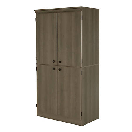 South Shore Morgan 4-Door Storage Armoire, Gray Maple