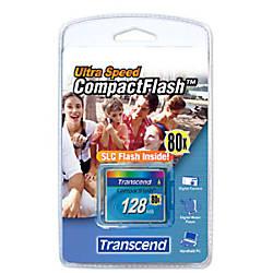 Transcend 128MB CompactFlash Card 80x