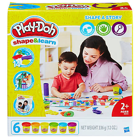 Play-Doh® Education Shape And Learn Shape A Story Set, Assorted Colors, Case Of 3 Sets
