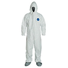 DuPont Tyvek Coveralls With Attached Hood