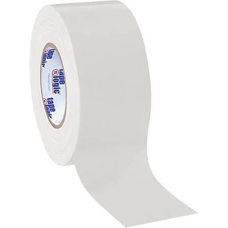"Tape Logic® Color Duct Tape, 3"" Core, 3"" x 180', White, Case Of 3"