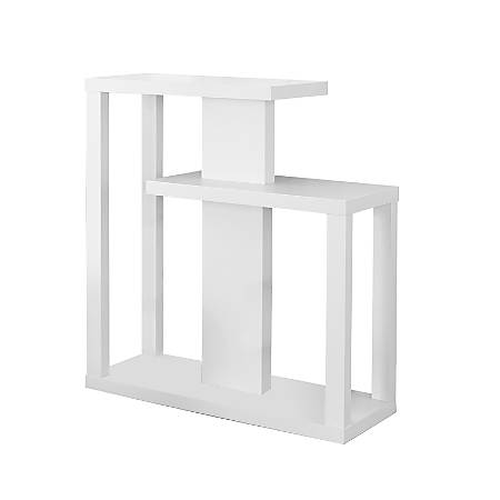 Monarch Specialties Console Table, Staggered, White