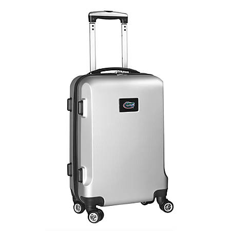 "Denco Sports Luggage Rolling Carry-On Hard Case, 20"" x 9"" x 13 1/2"", Silver, Florida Gators"