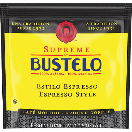 Folgers Supreme By Bustelo Espresso-Style Pods, 0.25 Oz, Case Of 120