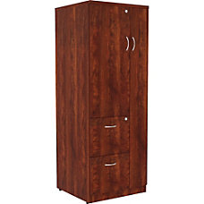 Lorell Essentials Tall Storage Cabinet Cherry
