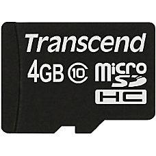 Transcend 4 GB Class 10 microSDHC