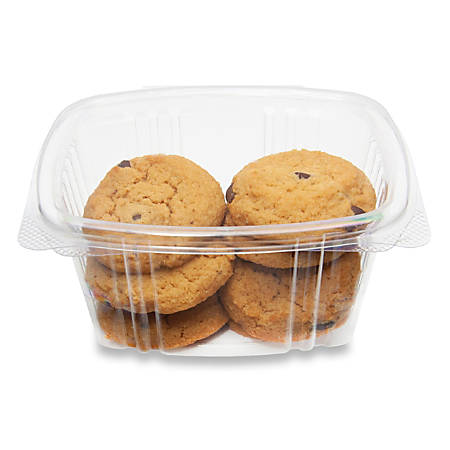 """StalkMarket Compostable PLA Deli Food Containers, 11"""" x 18"""", 16 Oz, Clear, Pack Of 300"""