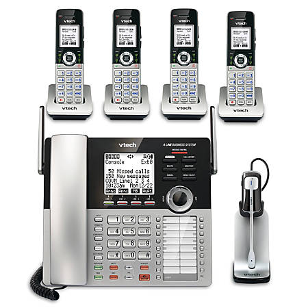 VTech® 4-Line Small Business Office Phone System with 4 CM18045 Handsets