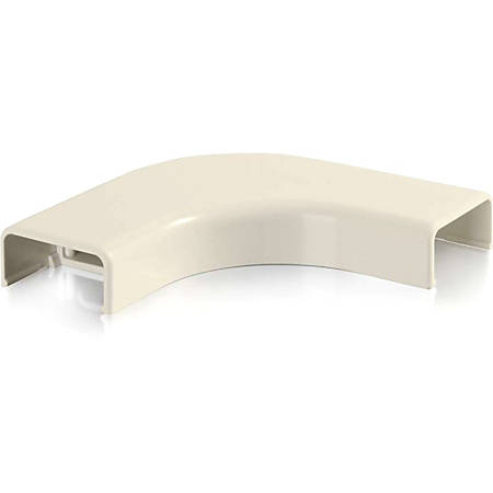 C2G Wiremold Uniduct 2800 Bend Radius Compliant Flat Elbow - Ivory